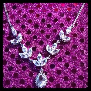 Jewelry - White Topaz Sterling Silver Necklace